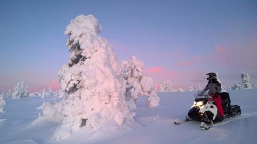 Snow Mobile Levi Ski Resort